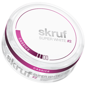 Skruf Super White Cassice #2 Slim Normal