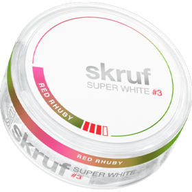 Skruf Super White Red Rhuby #3 Slim Stark