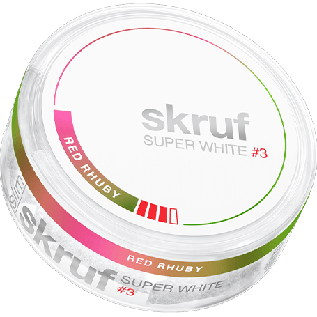 Skruf Super White Red Rhuby #3 Slim Strong
