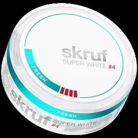 Skruf Super White Slim Fresh #4 Slim Extra Strong