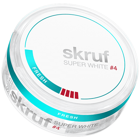 Skruf Super White Slim Fresh #4