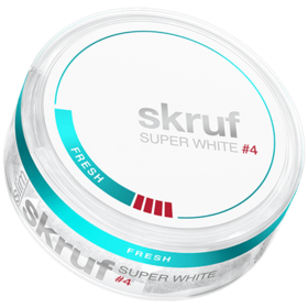 Skruf Super White Fresh #4 Slim Extra Strong