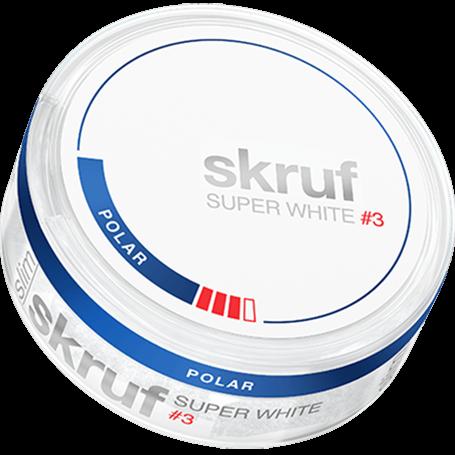 Skruf Super White Slim Polar #3 Slim Extra Strong