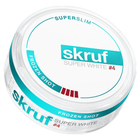 Skruf Super White Frozen Shot #4 Super Slim Extra Strong