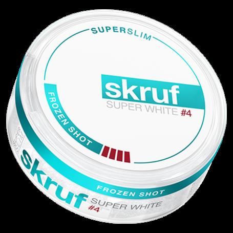 Skruf Super White Frozen Shot #4 SuperSlim Extra Strong