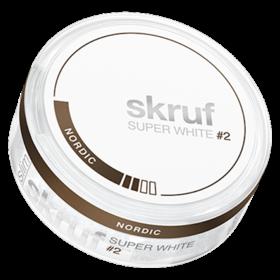 Skruf Super White Nordic Liquorice #2 Slim Normal
