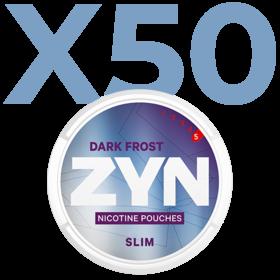 Zyn Dark Frost Slim Extra Stark Valuepack - 50 Dosen
