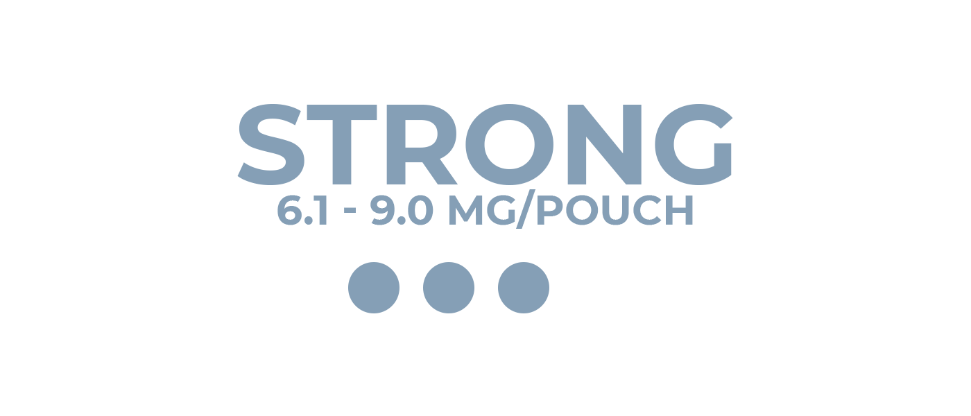 Strong nicotine pouches