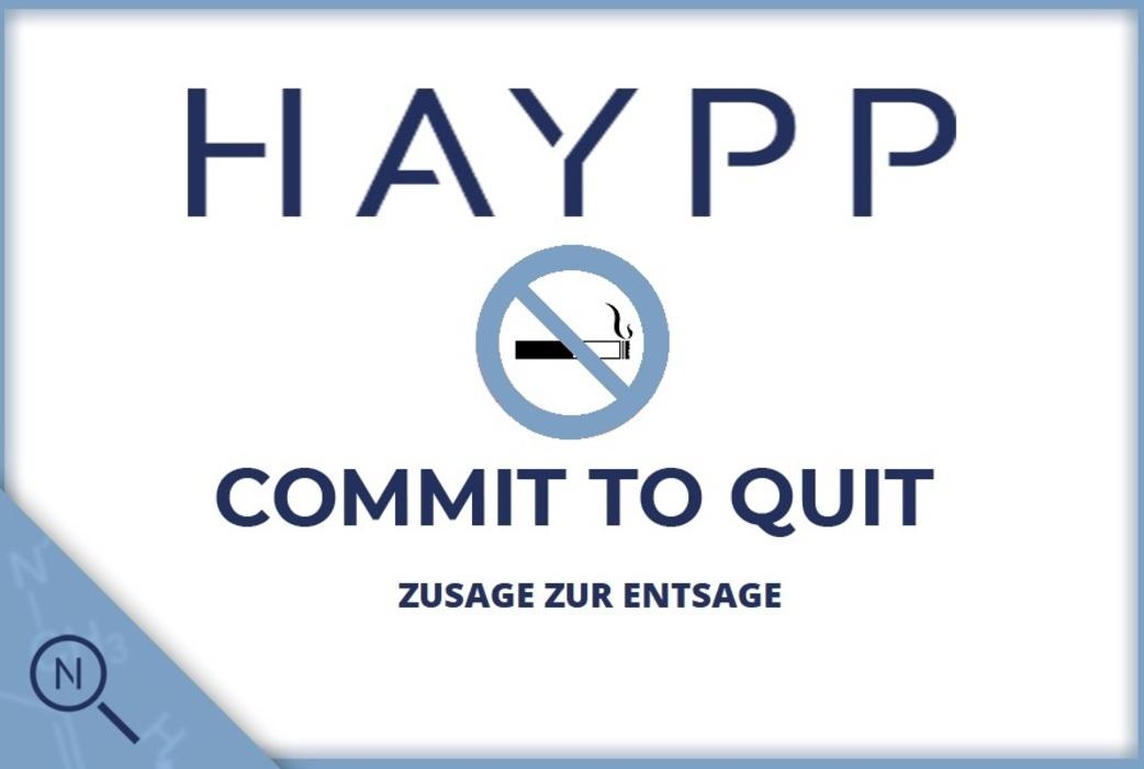 Haypp commit to quit