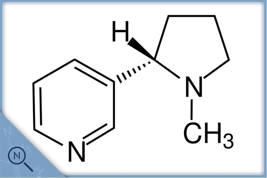 Nikotin Strukturformel