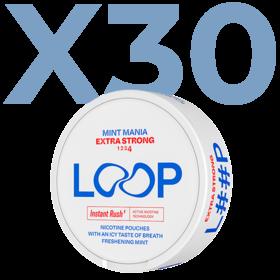 LOOP Mint Mania Slim Extra Stark Valuepack - 30 Dosen