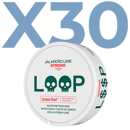 LOOP Jalapeno Lime Slim Stark Valuepack - 30 Dosen