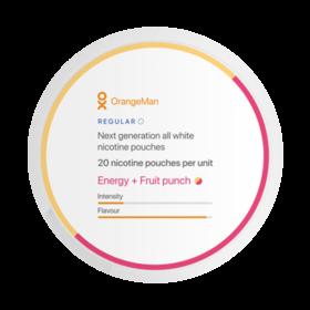 OrangeMan Energy + Fruit Punsch Slim Normal Nikotinbeutel