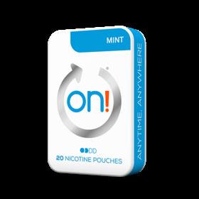 On! Mint 3mg Mini Less Intense Nicotine Pouches