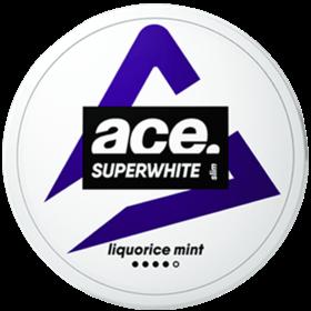 Ace Superwhite Liquorice Slim Strong