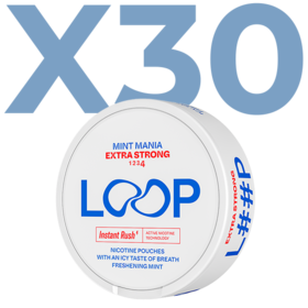 LOOP Mint Mania Slim Extra Strong Valuepack - 30 Cans