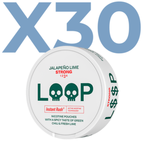 LOOP Jalapeno Lime Slim Strong Valuepack - 30 Cans