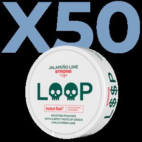LOOP Jalapeño Lime Slim Strong Valuepack - 50 Cans