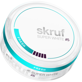Skruf Super White Fresh #5 Slim Extra Strong