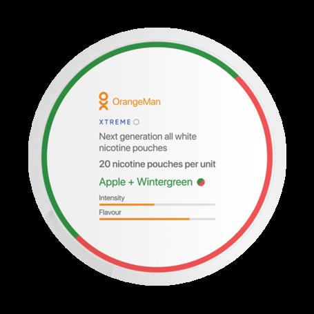 OrangeMan Apple + Wintergreen Slim Extra Strong