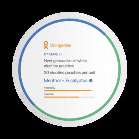 OrangeMan Menthol + Eucalyptus Slim Extra Strong