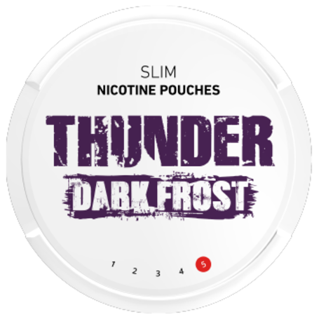 Thunder Dark Frost Slim Extra Strong Nicotine Pouches