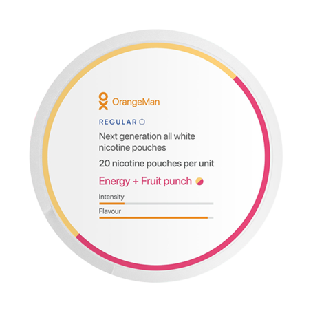 OrangeMan Energy + Fruit Punch Regular Slim Normal