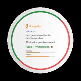 OrangeMan Apple + Wintergreen Xtreme Slim Extra Strong